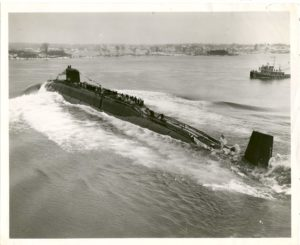Dale Armbrister's boat, the nuclear missile submarine USS John Adams SSBN 620
